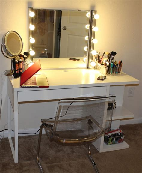 best lighting for vanity makeup table with square mirror