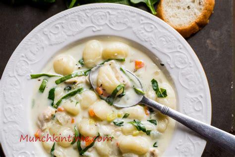 olive garden chicken gnocchi soup recipe chicken gnocchi soup recipe munchkin time