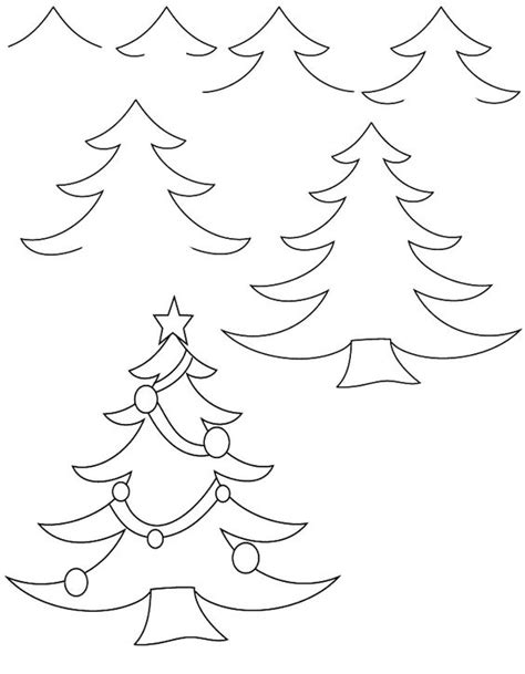 christmas pictures step by step drawing tree drawing tutorials trees trees and
