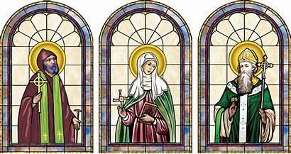 Stained Glass Catholic Window Ireland Saints Patrick