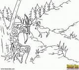 Coloring Hunting Scene Template Popular Sketch Coloringhome sketch template