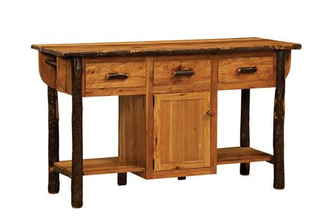 solid wood kitchen island cart solid hickory wood made furniture kitchen island