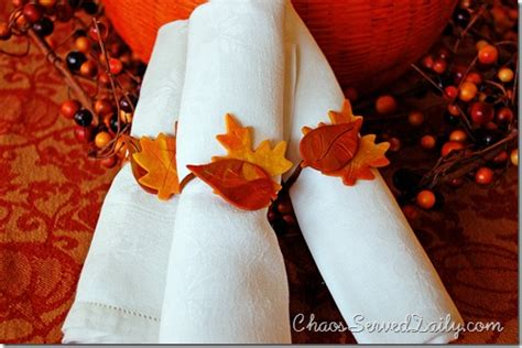 Thanksgiving Cookie Decorations by Kid Craft Thanksgiving Napkin Rings Chaos Served Daily