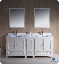 56 Vanity Double Sink 72 quot oxford traditional double sink bathroom vanity white