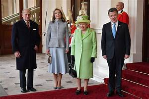 Colombian president welcomed by Queen & Philip on State ...