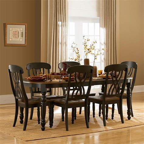 antique black walnut dining table home decorators collection walton antique walnut dining