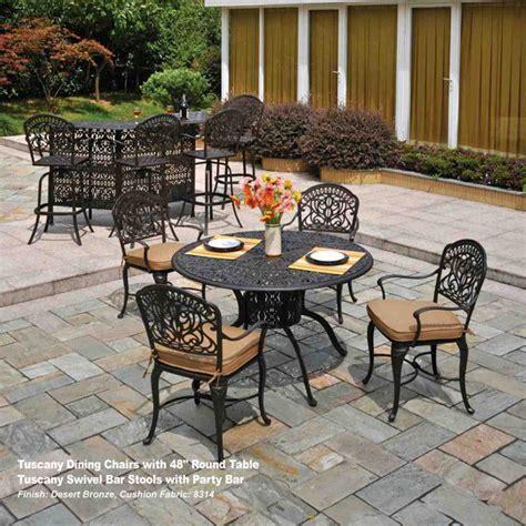 hanamint tuscany patio furniture the tuscany outdoor patio dining set hanamint family