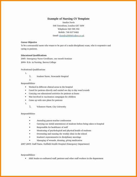 Nursing Cv Template by 8 Cv Template Theorynpractice