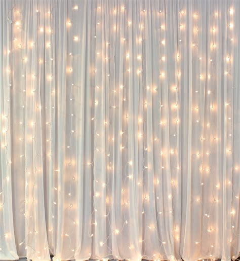 curtain backdrop lights decorate the house with