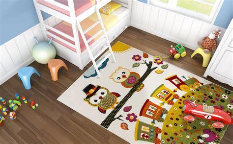 tapis chambre enfants tapis pour chambre enfant vert hibou pas cher