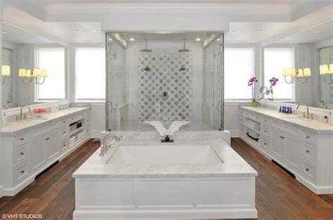 master bathrooms  hardwood floos