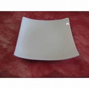 Assiette Blanche Carrée : assiette carree design 20x20 en porcelaine blanche ~ Teatrodelosmanantiales.com Idées de Décoration