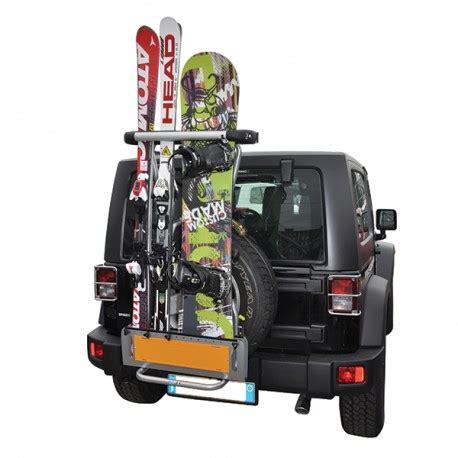installer siege auto porte ski pour 4x4
