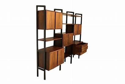 Divider Mid Century Bookcase Desk Hutch