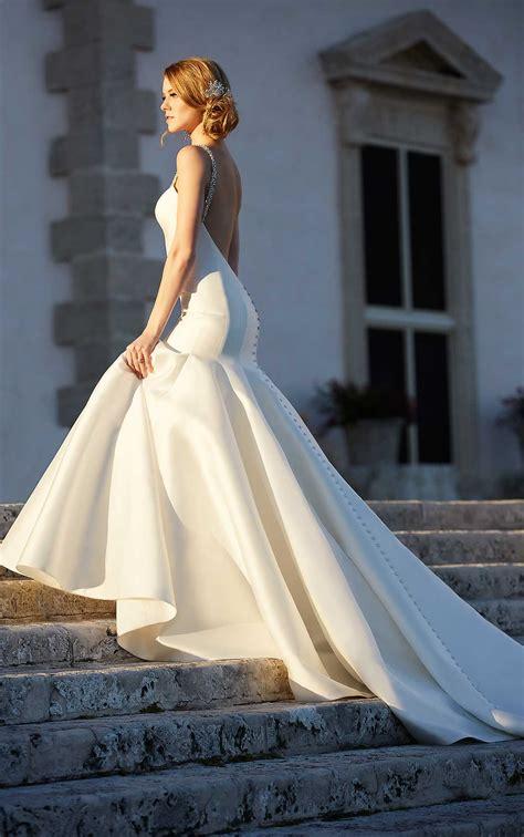 modern fit  flare wedding dresses martina liana