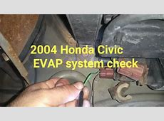 2004 Honda Civic EVAP system leak test YouTube