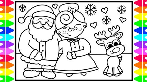 How To Draw Santa Claus And Mrs. Claus Step By Step For