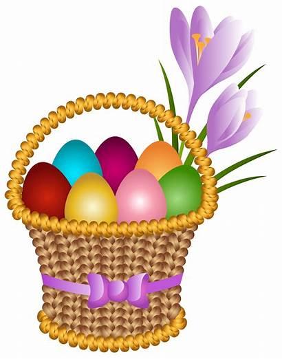 Easter Basket Egg Clip Transparent Clipart Eggs