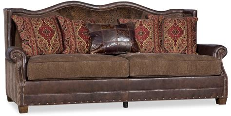 leather and fabric loveseat traditional leather fabric sofa