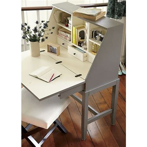 crate and barrel secretary desk marco 42 quot desk grey nooks and crate and barrel