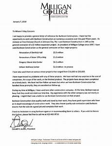 Letters Of Recommendation Burleson Construction General