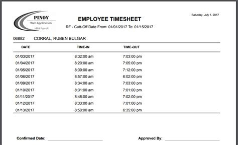 generate timesheet  daily time records  finger