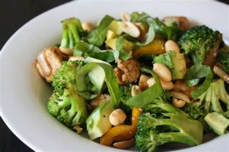 Stir Fry With Avocado Basil And Peanuts Meatless Meals