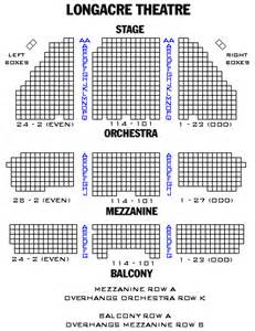 Longacre Theatre Seating Chart