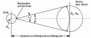 Entfernung Erde Sonne Berechnen : berraschendes von sonne und mond ~ Themetempest.com Abrechnung