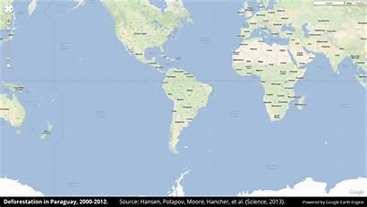 Deforestation Forest Map Paraguay Google Earth Global