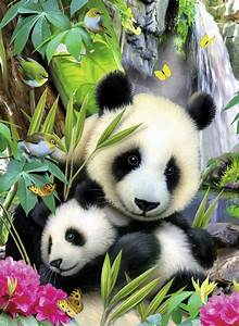 Panda Love Diamond Painting Kit 35cm X 45cm