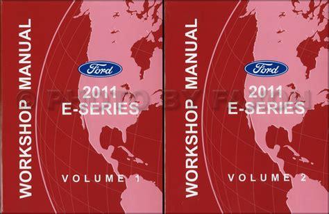 ford econoline shop manual set