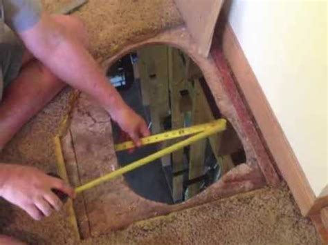 fix  hole   floor subfloor repair diy youtube