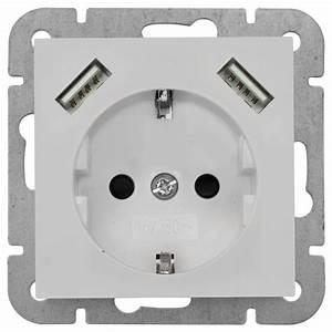 Elektro Online Shop 24 : jetzt neu klein k55 schuko steckdose mit 2usb reinwe gl ~ Watch28wear.com Haus und Dekorationen
