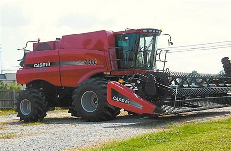 Case 7088 Rice Header With 4wd 40ft 2152 Front Machinery