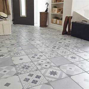 carrelage imitation carreaux de ciment 7 idees tendance With carreau de ciment point p