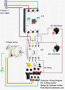Single Phase Magnetic Contactor Wiring Diagram
