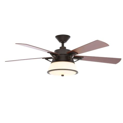 rubbed bronze ceiling fan light kit hton bay marlowe 52 in indoor rubbed bronze