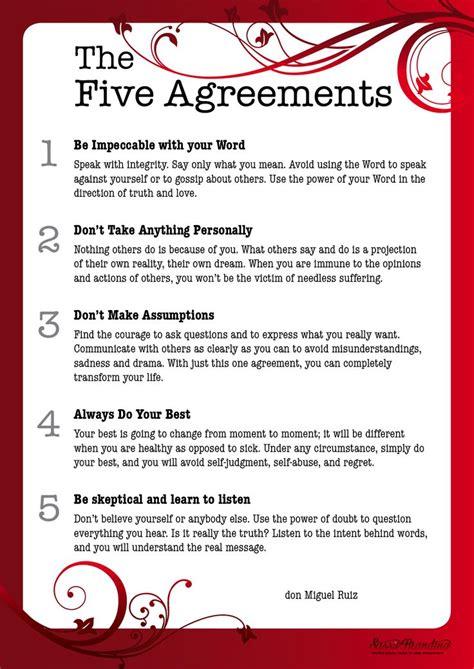 The Five Agreements wwwsassybrandingcom Cool