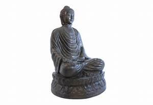 Statue Bouddha Exterieur : statue bouddha assis 100 cm pour le jardin koh deco ~ Teatrodelosmanantiales.com Idées de Décoration