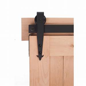 hardware 7 ft cathedral barn door system flat black With 7 foot barn door hardware