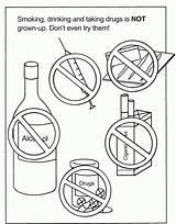 Coloring Drug Printable Clipart Drugs Control Week Smoking Ribbon Poison Sheets Alcohol Awareness Children Adults Kindergarten Teaching Anti Popular Center sketch template