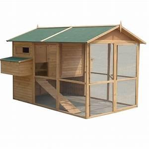 Grand poulailler xl pour 12 15 poules bois plein solide for Modele de maison en u 6 grand poulailler xl pour 1215 poules bois plein solide