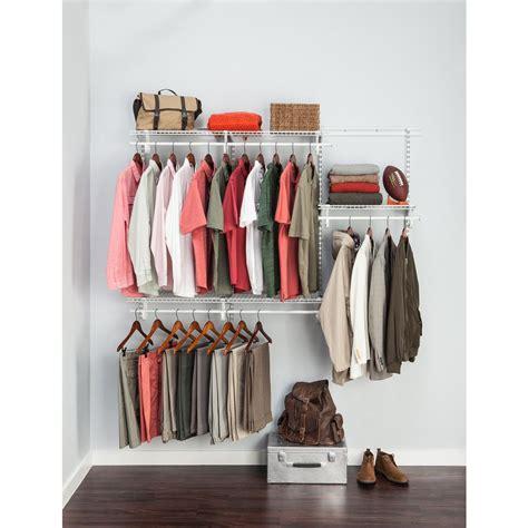 closetmaid closet organizer closetmaid shelftrack 4 ft to 6 ft white wire closet
