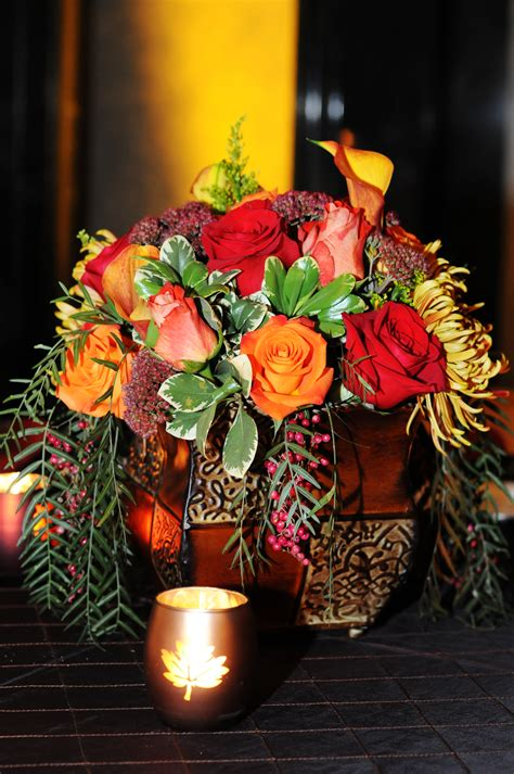 fall wedding centerpieces Deborah Sheeran Weddings of