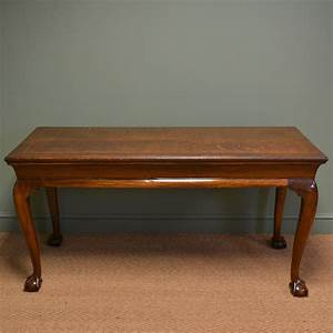 Unusual Large Victorian Oak Antique Console Table ...