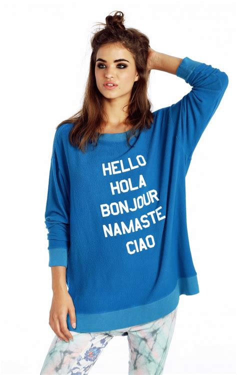 hello sweater wildfox say hello to everyone roadtrip sweater dress say