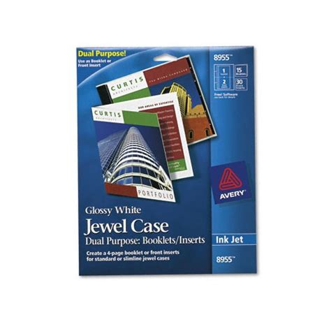 Avery Jewel Case Insertbooklet Combination Ave8955