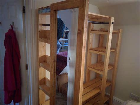 ana white designs open wardrobe  sliding mirror