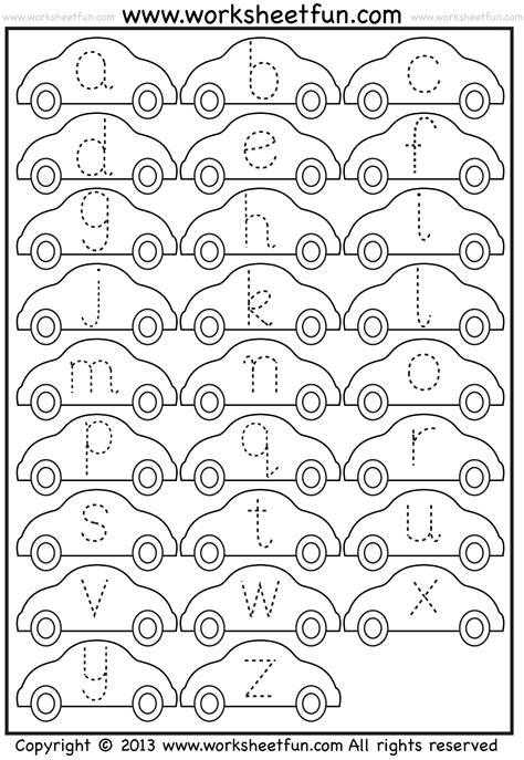 letter tracing alphabet and worksheets pinterest